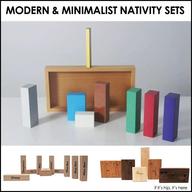 Modern nativity sets