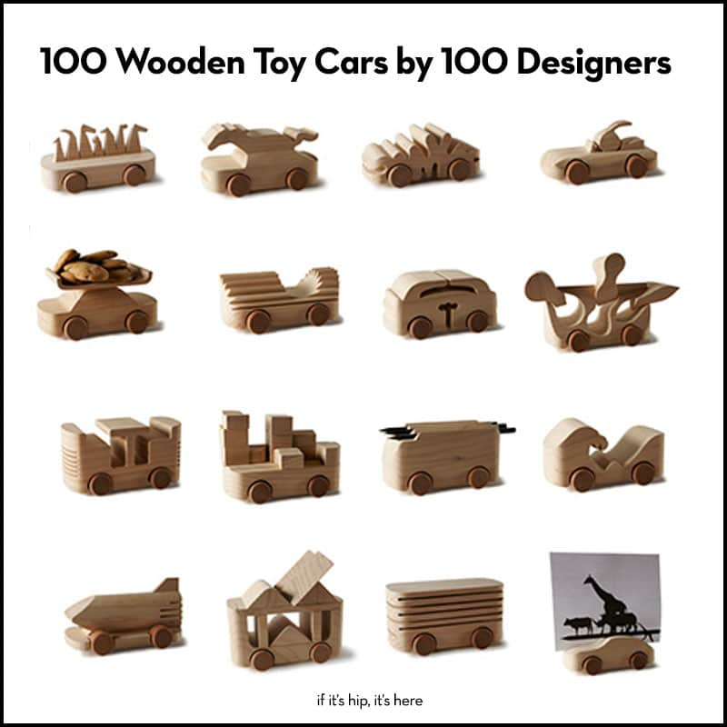 100 wooden toy cars by 100 designers