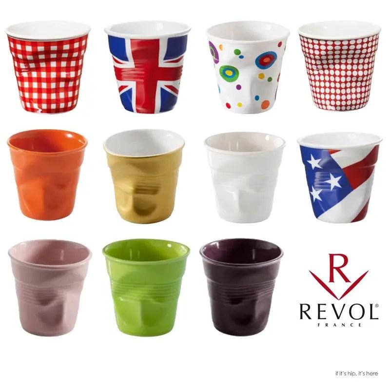 Revol Froissés Crumpled Porcelain Collection