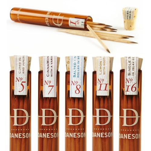 Read more about the article Chew On This: Upscale Flavored Toothpicks From Daneson Include 200 Year Old Single Malt Scotch.