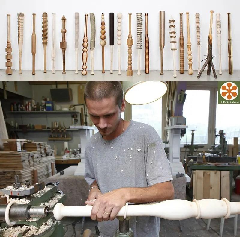 Vincent Kohler hand carved baseball bats
