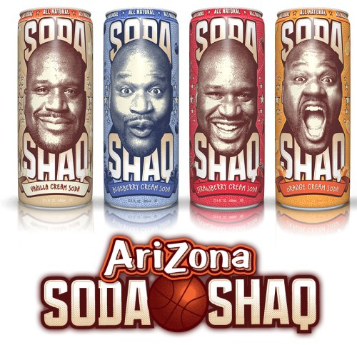 """Read more about the article New Cream Soda in """"A Big Can for the Big Man."""" Introducing Soda Shaq."""
