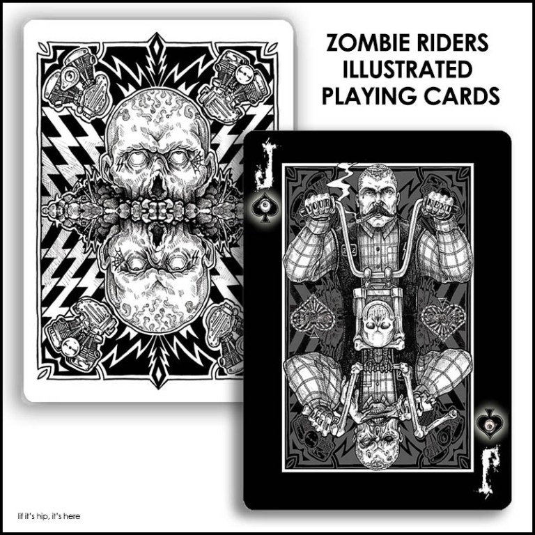 zombie riders playing cards