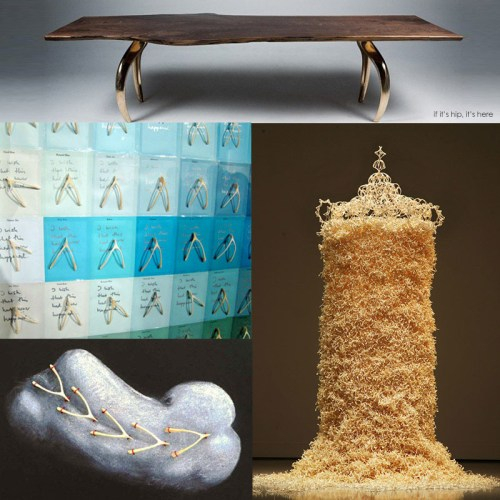Read more about the article A 9′ Tall Tower of 50,000 Wishbones and 20 Other Examples of Wishbone Art For Thanksgiving.