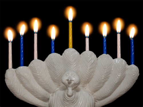 Read more about the article The Menurkey – A Thanksgivukkah Candelabra Created By A 9 Year Old.