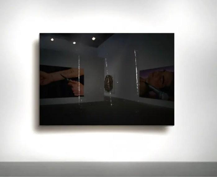 Nir Hod, 2001, The Night You Left, oil on black mirror