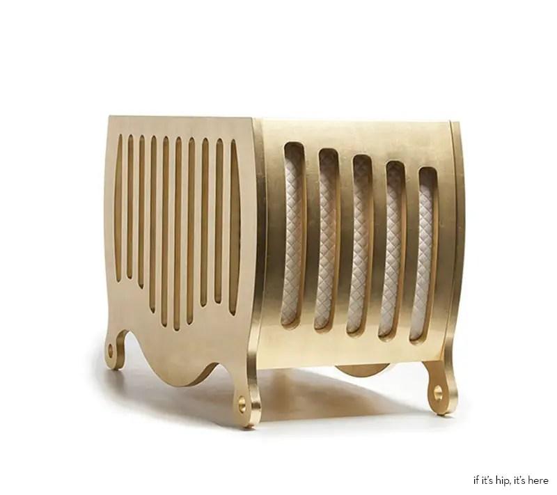 modern luxury for nursery gold cribs