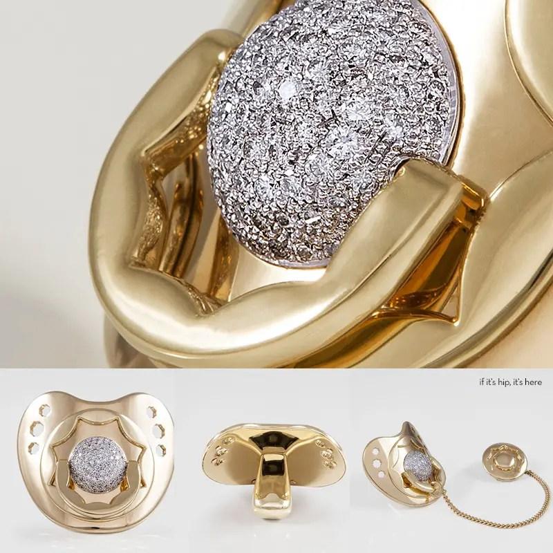 Dodo-Dummy-diamond gold pacifier