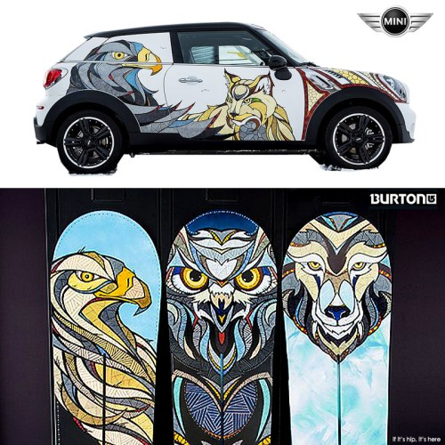 Read more about the article A 'Snow Beasts' MINI and Custom Burton Snowboards by Illustrator Andreas Preis.