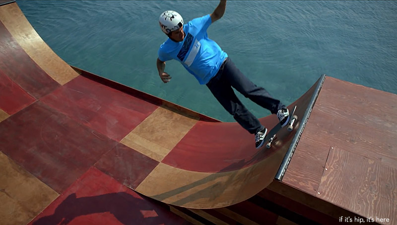 If Its Hip Its Here Archives A Giant Floating Skate Ramp In Lake Tahoe For Bob Burnquist