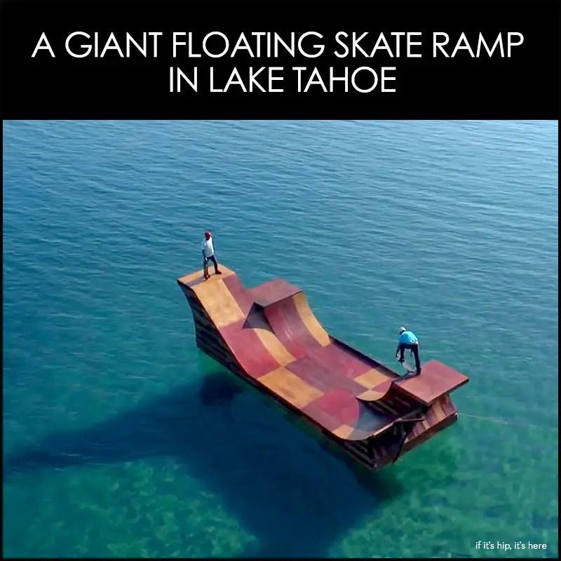 floating skate ramp