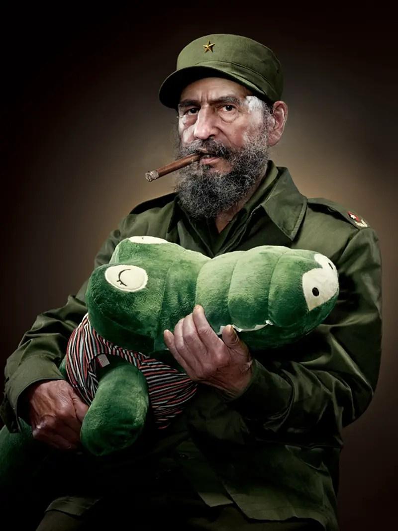 Fidel Castro with plush alligator IIHIH