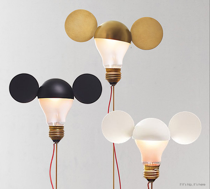 whimsical table lamps by ingo maurer are a nod to mickey mouse and disney if it 39 s hip it 39 s here. Black Bedroom Furniture Sets. Home Design Ideas