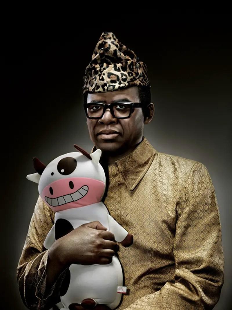 Mobutu Sesé Seko  with cow IIHIH