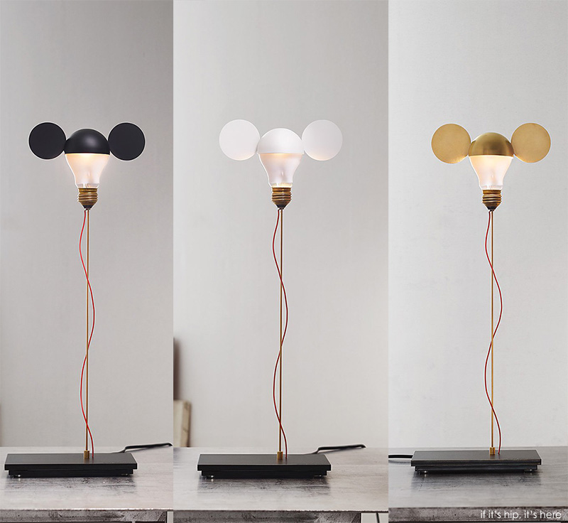 Whimsical table lamps by ingo maurer are a nod to mickey mouse and ingo muarer i ricchi poveri toto black white and brass iihih mozeypictures Image collections