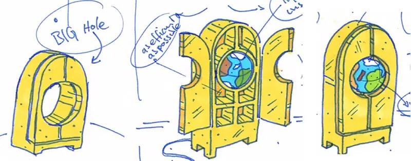 studio job sketches for globe IIHIH