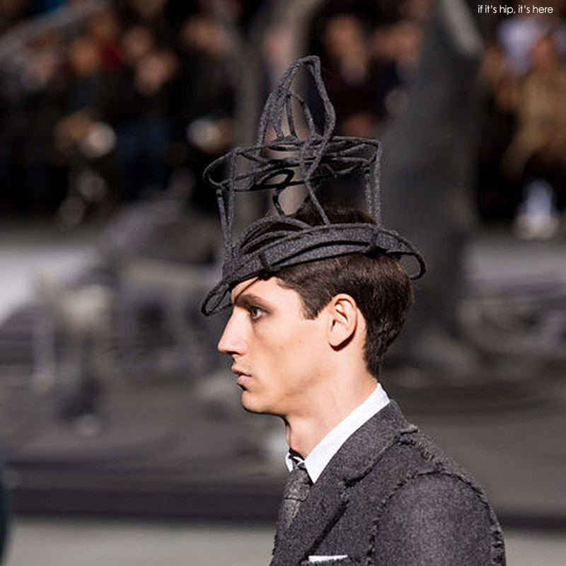 2e56dcf3bd2 Hats Off To Thom Browne and Stephen Jones For Some Seriously Strange ...