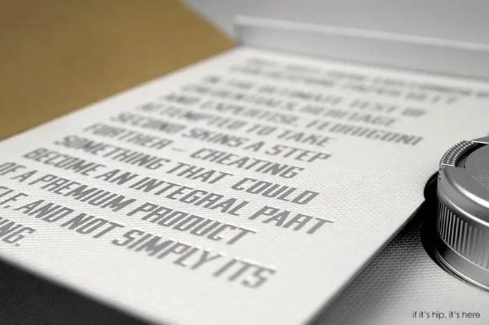 Paper Skin Leica Fedrigoni 8 IIHIH