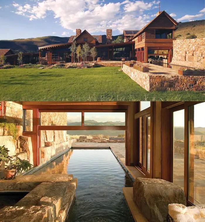 luxurious mountain home indoor outdoor pool