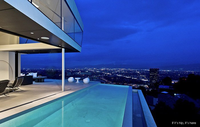 Ultra Modern Angular Mulholland Home With Spillover Pool