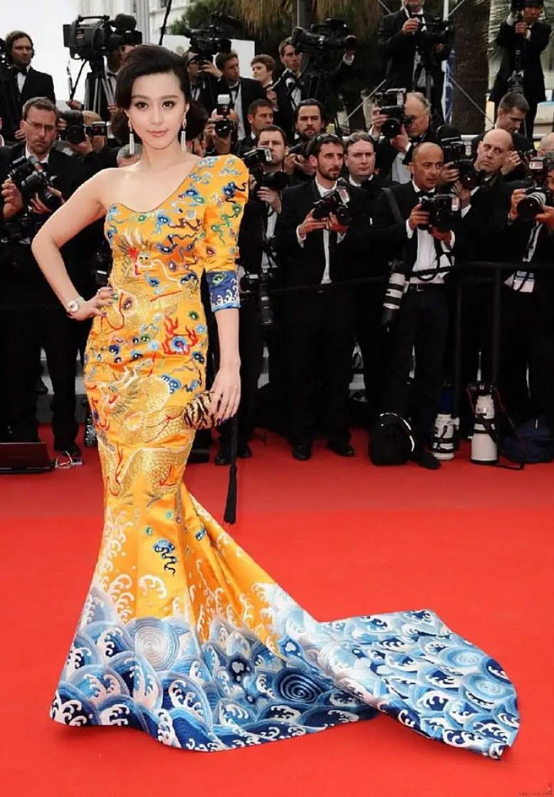 Fan Bingbing DragonRobe by Laurence Hsu at Cannes IIHIH