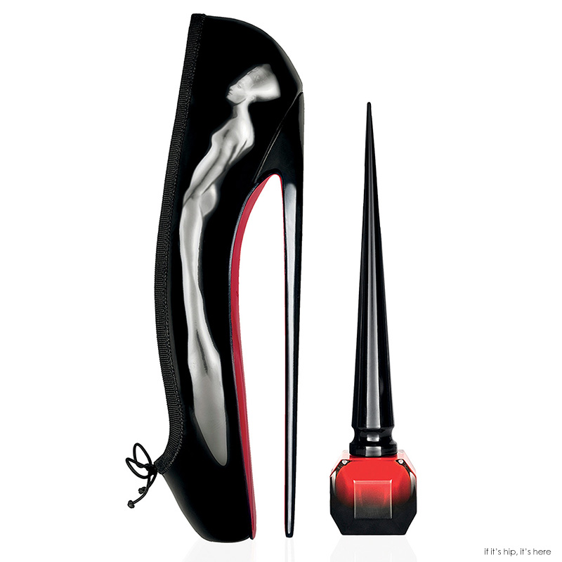 Louboutin Nail Lacquer In High Heel-Inspired Bottle with Wacky Ad by ...
