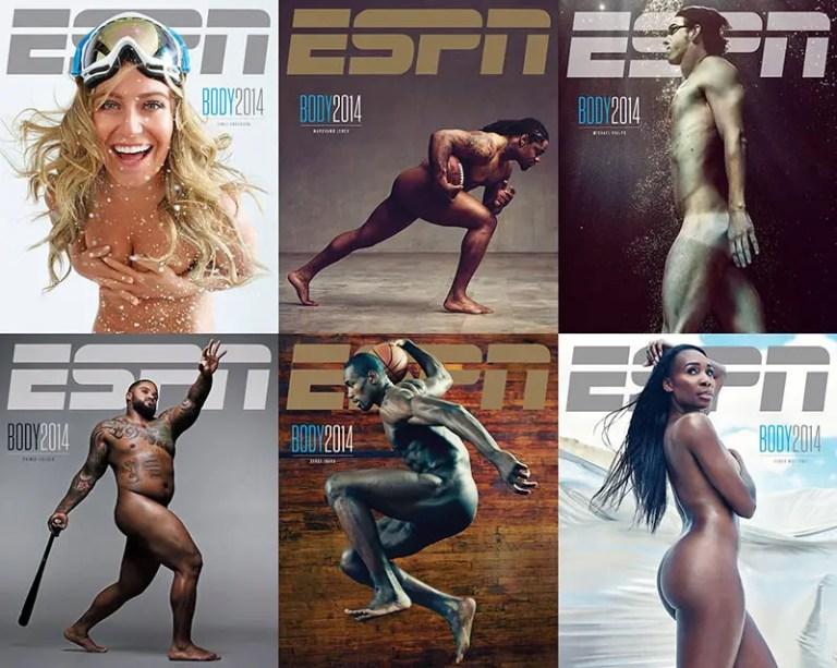 The six covers of 2014 ESPN Body Issue IIHIH