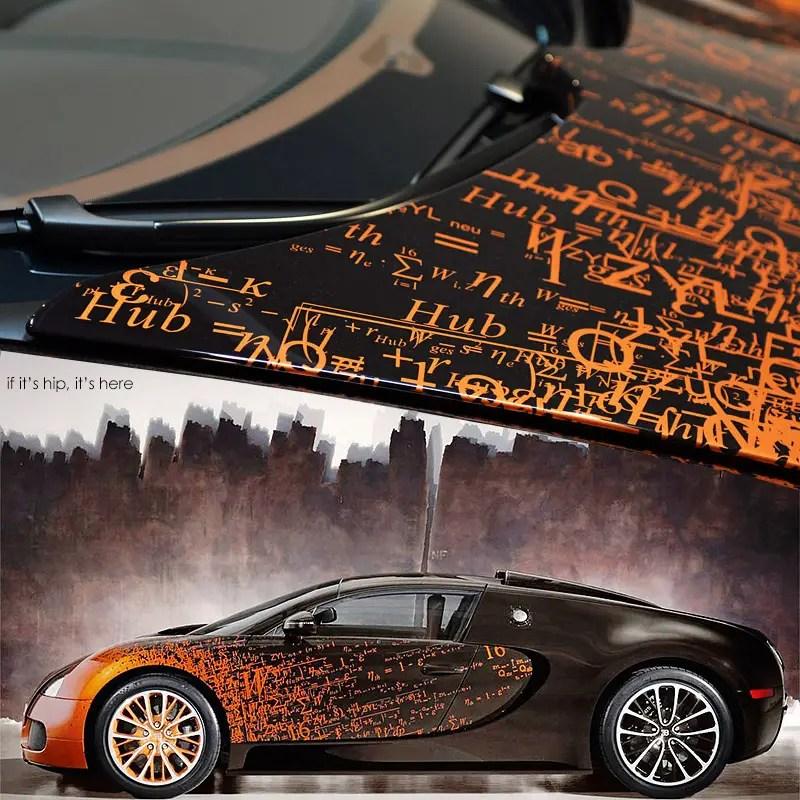 Bugatti Veyron Grand Sport by Artist Bernar Venet