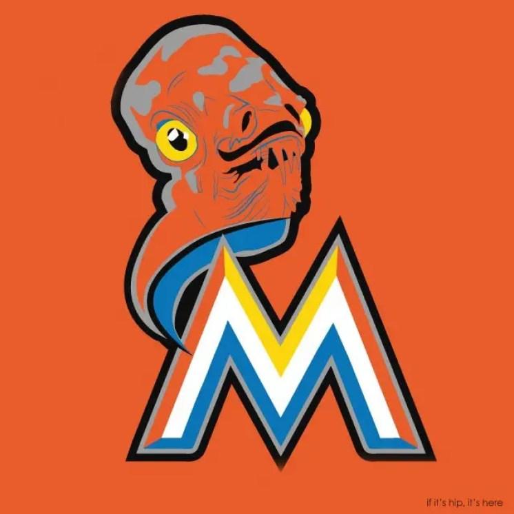 MLB x StarWars series - Miami Admiral Ackbars IIHIH