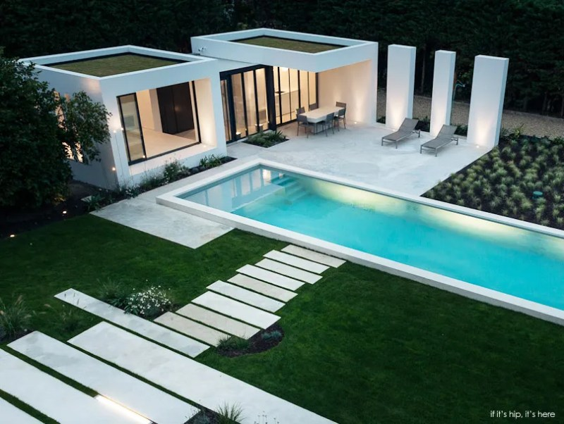 Gorgeous modern pool house in basque country by atelier dc for Modern contemporary swimming pools