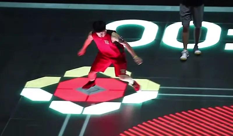 Reactive LED Basketball Court