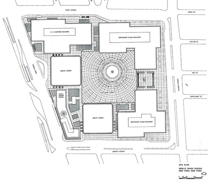 site plan for WTC office buildings IIHIH