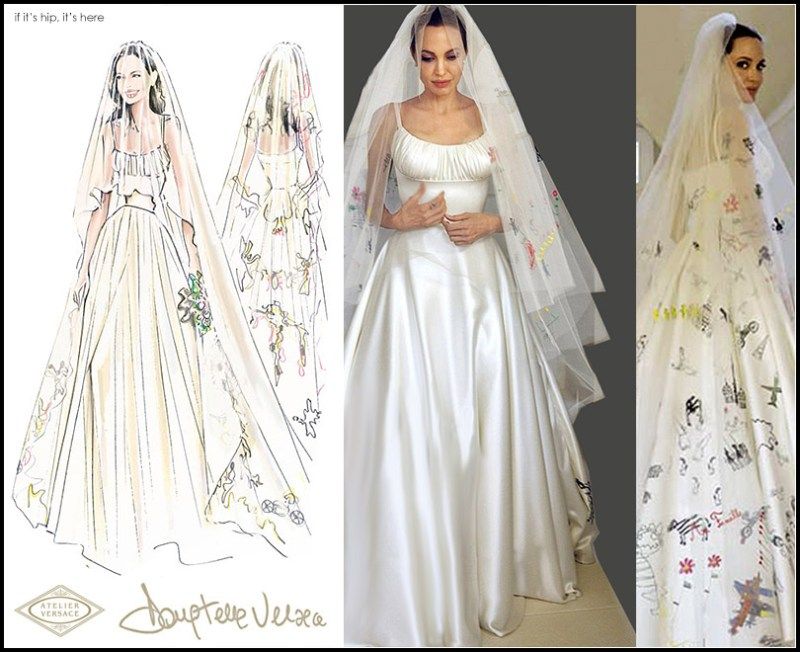 Angelina Jolie-Pitt's Wedding Gown and Veil