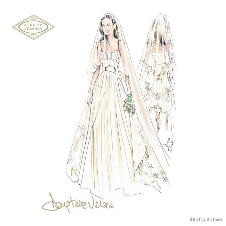 Versace Donatella sketch Angelina_Jolie_Wedding dress IIHIH