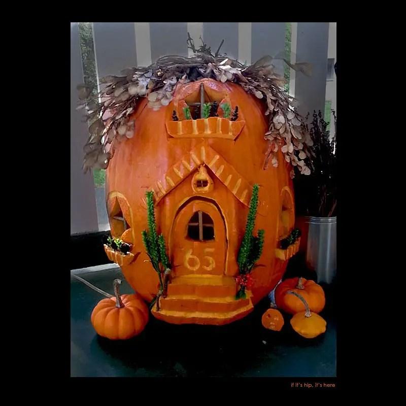 13. Fairy House pumpkin carving
