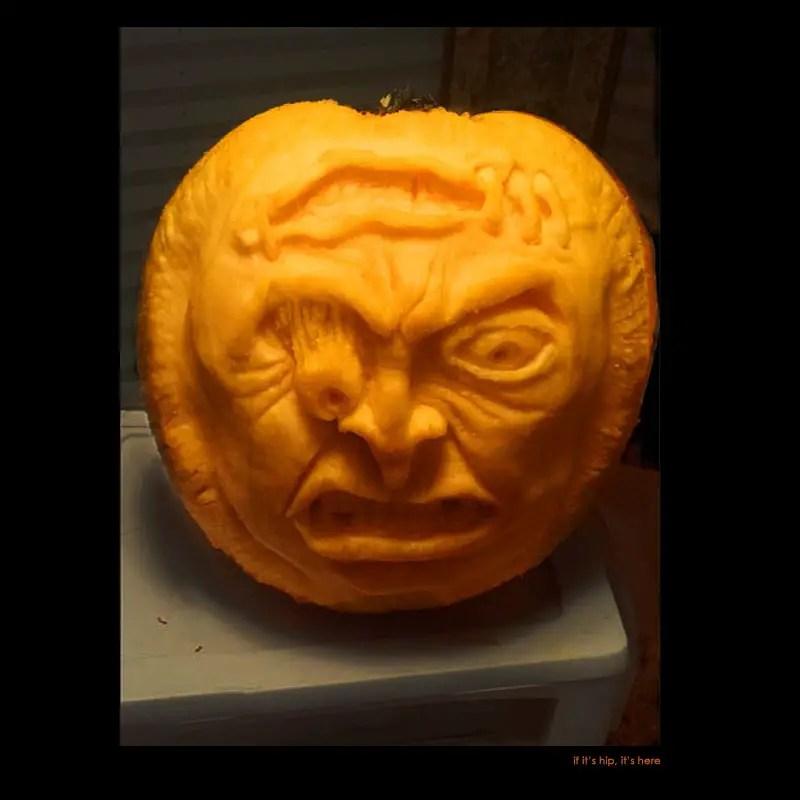 22. Ima N. Shock pumpkin carving