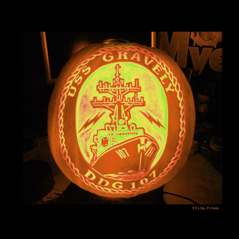 24.USS Gravely pumpkin carving