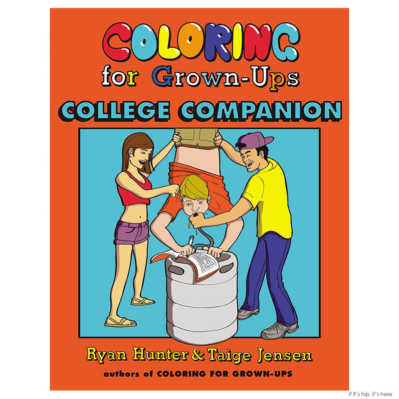 Coloring for grownups college companion cover
