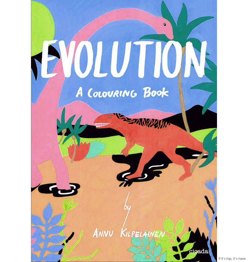 Evolution a coloring book cover