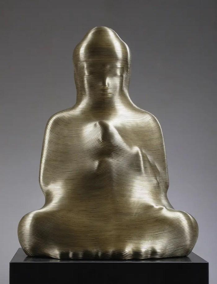 bronze wire wrapped buddha