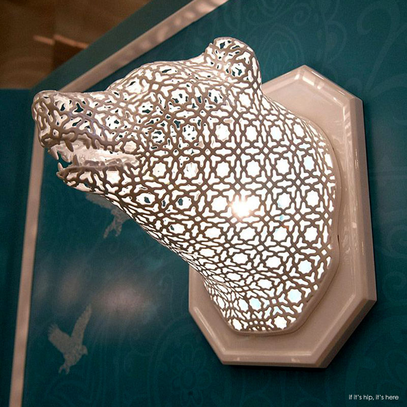 illuminated lace animal heads