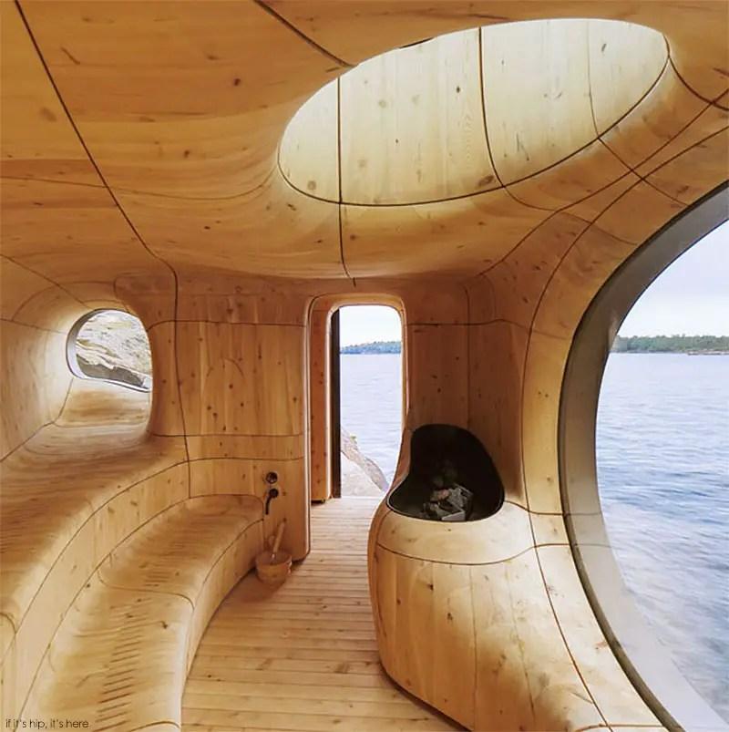 Grotto sauna prefab