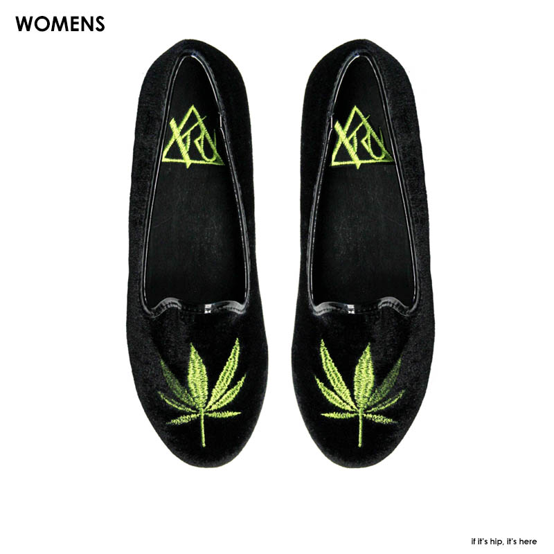 Womens marijuana flats by YRU IIHIH