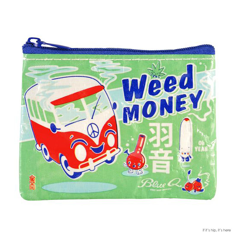 blue q weed money coin pouch IIHIH
