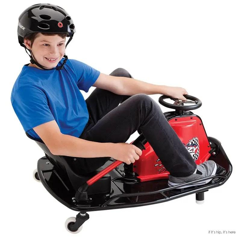 boy on black crazy cart IIHIH