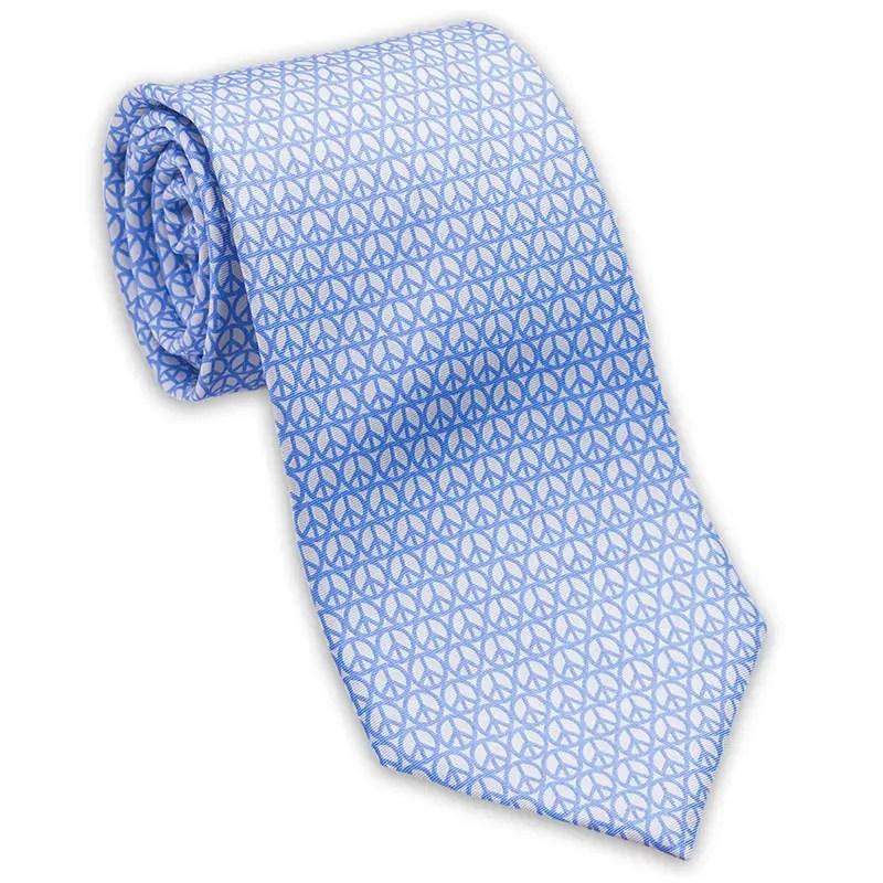 peace signs tie blu