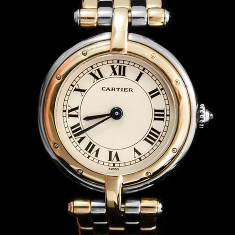 Cartier ss_18k panthere round face