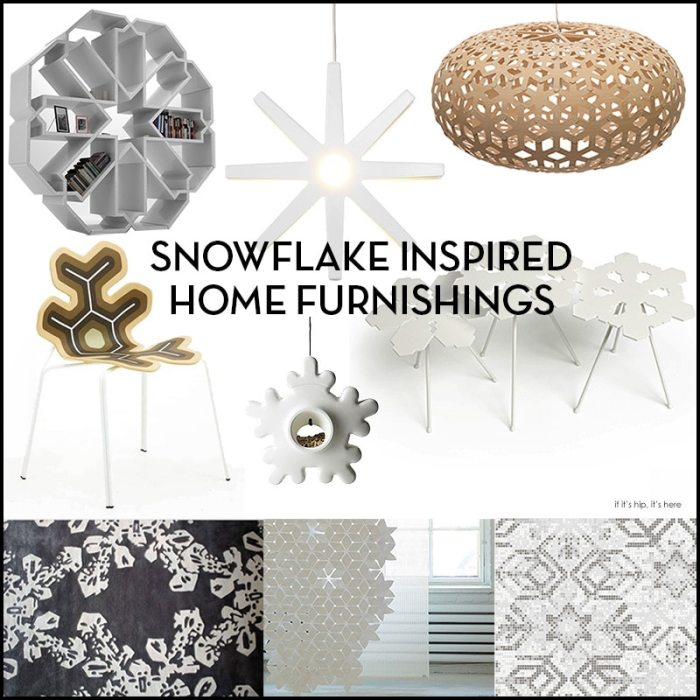 Snowflake inspired modern home furnishings