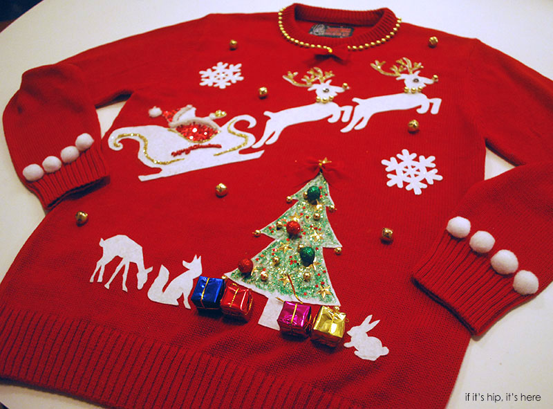 Ugly Christmas sweater by laura angled