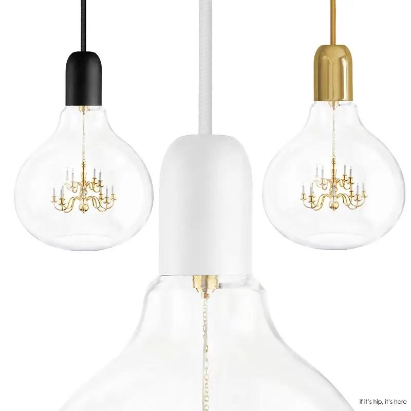 Mini Chandelier Inside Glass Bulb Makes for One Unusual Pendant Lamp ...
